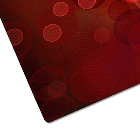 Red Love Hearts Cool Glass Chopping Board Kitchen Worktop Saver Protector